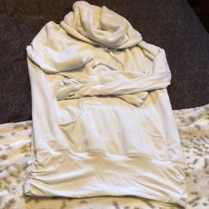 Lululemon cream cowl neck sweater